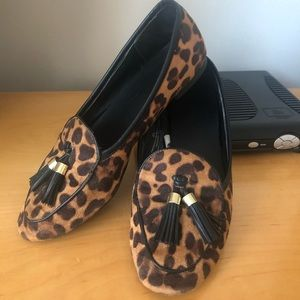 Merona Leopard Print Loafer Flats with Tassel